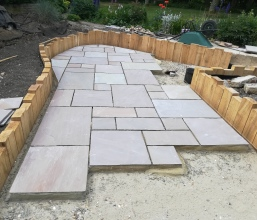 Sandstone patio works