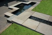 Garden design and build. Hard landscaping with water gardens and water features.